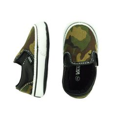 Vans Classic Crib Camo - mini mioche - organic infant clothing and kids clothes - made in Canada