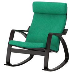 POÄNG Gyngestol - sortbrun, Hillared mørkeblå - IKEA Funky Painted Furniture, Painted Chairs, Painted Tables, Modern Furniture, Furniture Design, Rocking Chairs, Patio Chairs, Outdoor Chairs, Chaise Longue