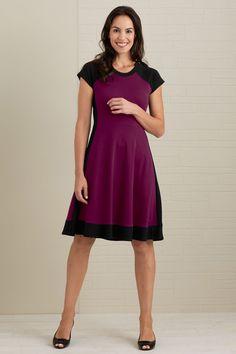 Fair Indigo Cap Sleeve Fair Trade Organic Colorblock Dress