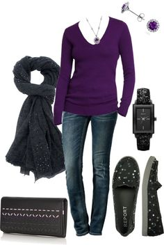 """""""Purple Sweater"""" by kswirsding on Polyvore"""