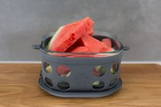 Product photography and styling of Lifefactory small glass storage container in grey, styled with watermelon for Colfoodstuff Glass Storage Containers, Food Storage, Product Photography, Watermelon, Fruit, Grey, Mindful Gray, Gray