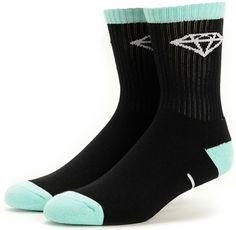 Diamond Supply Co 3 Pack Black & Diamond Blue Crew Socks at Zumiez : PDP