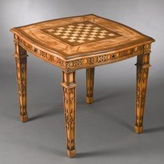 AA Importing 38820 Four Drawer Reversible Top Game Table in Medium Brown by AA Importing. $733.94. 38820 Features: -Four drawer game table.-Top has checkerboard design on one side and backgammon board design on the other. Includes: -Includes four drawers. Color/Finish: -Medium brown finish.