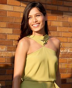 Freida Pinto ahead of her appearance on The Daily Show with Jon Stewart at Comedy Central Studio in New York City on August 1, 2011