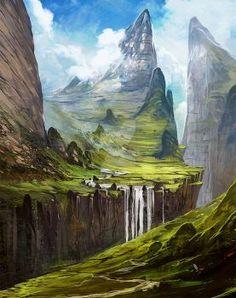 Fantasy landscape I by Zicuta