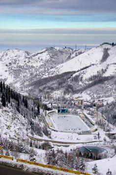 The Medeu Alpine Ice Arena/Almaty, Kazakhstan