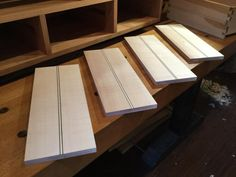 farnsworthguitars:  Four more in. Ready to lay out dovetails and...