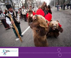 Romania's traditional dance of the bear, featuring the iconic animal from the country's forests, symbolizes the birth and death of the new and the previous year.  New Year's Eve is definitely wild in Bucharest.