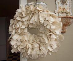 love this ivory burlap wreath