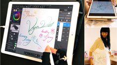 Vegan Happy Healthy Harmony [Tote bag Design iPad Pro Apple Pencil] - from #rosalys at www.rosalys.net - work licensed under Creative Commons Attribution-Noncommercial - #Art blog Original aato Original art Original arts