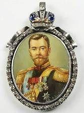 Fabergé - úžasné zlatý ruský Miniatura Nicholas 2. + Sapphire a diamanty