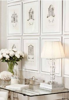 Designer wall art is all you need to tie an interior design project together. Shop luxury wall art pieces and premium wall decor from Kathy Kuo Home White Rooms, White Walls, White Bedroom, Interior Decorating, Interior Design, White Houses, Office Decor, Office Ideas, Interior And Exterior