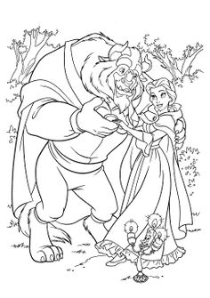 Belle Is Happy With The Beast Coloring Pages Kids ColoringDisney PagesAdult ColoringColoring BooksPrincess