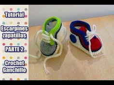 DIY Como tejer escarpines, zapatitos, zapatillas, patucos para bebe a crochet, ganchillo (2/2) - YouTube