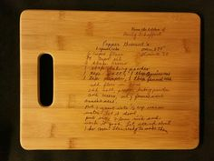 Custom engraved cutting board for Erika from 3DCarving on Etsy