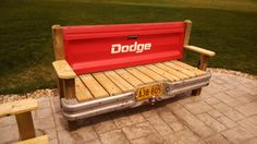 Dodge Tailgate bench with bumper by TailgateGuy on Etsy, $525.00