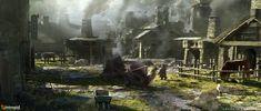 ArtStation - Ashes of Creation - Dwarven Village, Ryan Richmond