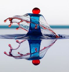 Water droplets frozen in high speed photographs by Jim Kramer.