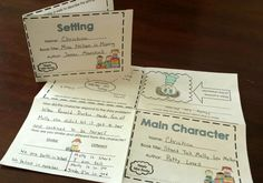 Reading response foldable mini books.  Great for centers, quick assessments, and early finishers.  $