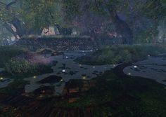 Fantasy Faire 2014 Sim -Fairelands Junction Fantasy, Sims, Places, Painting, Art, Art Background, Lugares, Imagination, Mantle