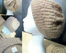 slouchy beanie hat gift women, custom knit hat, women hat, winter hat, custom hat, slouchy hat, wide brim hat, wife hat, hand knit hat