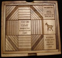 A classic sliding puzzle where object is to move the Goat back into the cage. A fun item to leave out for your Escape Room participants as they hang out in your waiting room. This puzzle dates back to