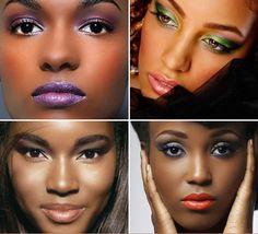 Inspiração de maquiagem para negras! #Adorei