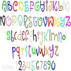 """Epic Embroidery Font. You get four size sets and all in Satin Stitch.  Size: .5"""", 1"""", 2"""", 3"""""""