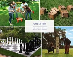 Oversized lawn games - both DIY and where to buy!