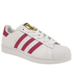 white & pink superstar, part of the Girls Youth adidas range available at  schuh