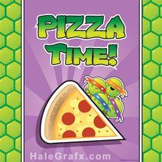 FREE TMNT Ninja Turtle Pizza Box cover Printable