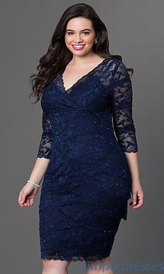 Shop short plus-size dresses and short dresses in plus sizes at PromGirl. Plus-size homecoming dresses, cocktail party plus dresses, and short plus-size dresses for prom. Party Dresses With Sleeves, Lace Wedding Dress With Sleeves, Lace Party Dresses, Short Lace Dress, Sleeve Dresses, Lace Sleeves, Dress Lace, Wedding Dresses, Plus Size Formal Dresses