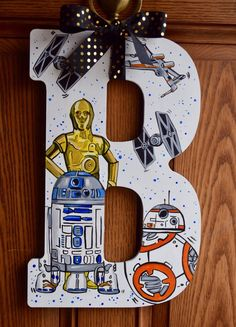 Star Wars Initial Wood Sign Galaxy Jedi The Force Tie Fighter XWing Initial HandPainted Star War Room Door Wall Hanging Decor - Star Wars Rings - Ideas of Star Wars Rings - Bb8 Star Wars, Star Wars Baby, Star Wars Ring, Decoration Star Wars, Star Wars Decor, Star Wars Party Decorations, Star Wars Bedroom, Star Wars Nursery, Star Wars Kindergarten