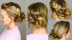 Ballerina Hairstyle Braids Back - The Best Natural Easy Hair Tutorial - ...