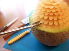 Melon Carving #fruit #entertaining #ideas