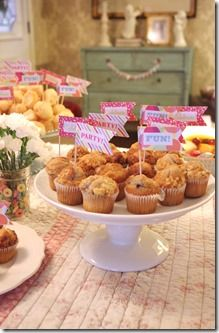 Chic Party: Mini muffins at Pancakes and Pajamas birthday party!