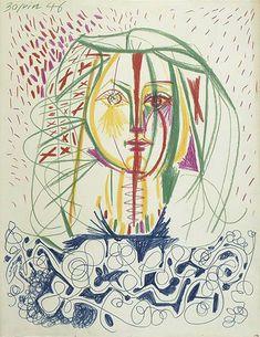 Picasso ~ Portrait de Françoise, 1946