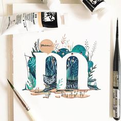 Gorgeous illustrated type by @junedigann - #typegang - typegang.com #typegangtw   typegang.com #typegang #typography
