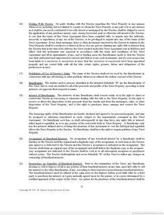 Printable Sample trustagreement Form