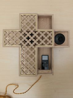 this cross/ipod-dock/speaker is beautiful, simple, functional design.  Christopher Stuart, Ubiquitous, (prototype only).