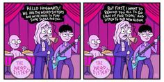 During the Yule Ball, the Weird Sisters give a quick PSA.