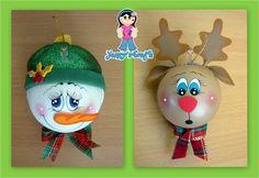 Yanny´s Crafts: Esferas Navideñas (Creación Original) Elf Christmas Decorations, Disney Ornaments, Diy Christmas Ornaments, Christmas Elf, Lightbulb Ornaments, Ornament Crafts, Christmas Projects, Holiday Crafts, Light Bulb Crafts