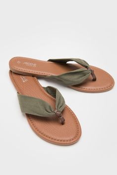 48cb2626a  Ardene  - Faux leather flip-flops with fabric straps. Comfort foam insole