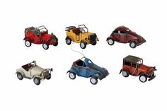 YK Decor 6 Pieces Model Metal Yang's Vintage Car Model July of Vintage Cars, Antique Cars, Car Set, Route 66, Antiques, Metal, Design, Decor, Antiquities
