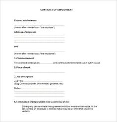 Free Employment Contract Template Fresh 18 Job Contract Templates Word Pages Docs Template Free, Templates Printable Free, Printables, Checklist Template, Resume Templates, Document Sign, Construction Contract, Contract Agreement, Doctors Note