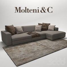 модели: Диваны - Turner Sofas Molteni & C Grey L Shaped Sofas, Sofa Furniture, Furniture Design, L Shaped Sofa Designs, L Shape Sofa Set, Plaid Sofa, Corner Sofa Design, Chair Design Wooden, Studio Apartment Decorating