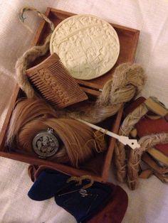 Elisa's medieval hairstyling kit.