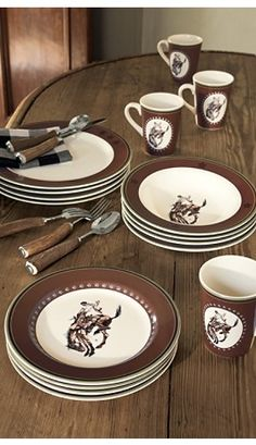Pendleton Round-Up dinnerware -- sadly this is discontinued but wasn't it fun?