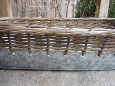 If you're a basket lover, you've probably lost that lovin' feeling for some of your baskets. Those baskets you stuck on a shelf in the basement or tucked away i… Painting Wicker Furniture, Bloomington Illinois, Painted Wicker, Home Staging, Wood Shelves, Diy Painting, Wicker Baskets, Firewood, Crafts