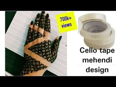 cello tape mehendi design / how to use cello tape in mehendi / latest simple and easy leaf henna - YouTube